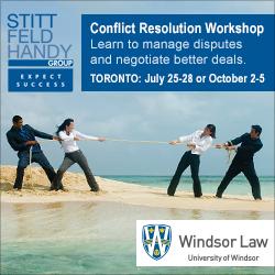 Conflict Resolution Workshop | Toronto: July 25-28 / October 2-5
