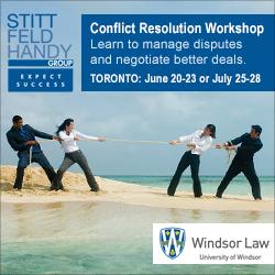 Conflict Resolution Workshop | Toronto: June 20-23 / July 25-28